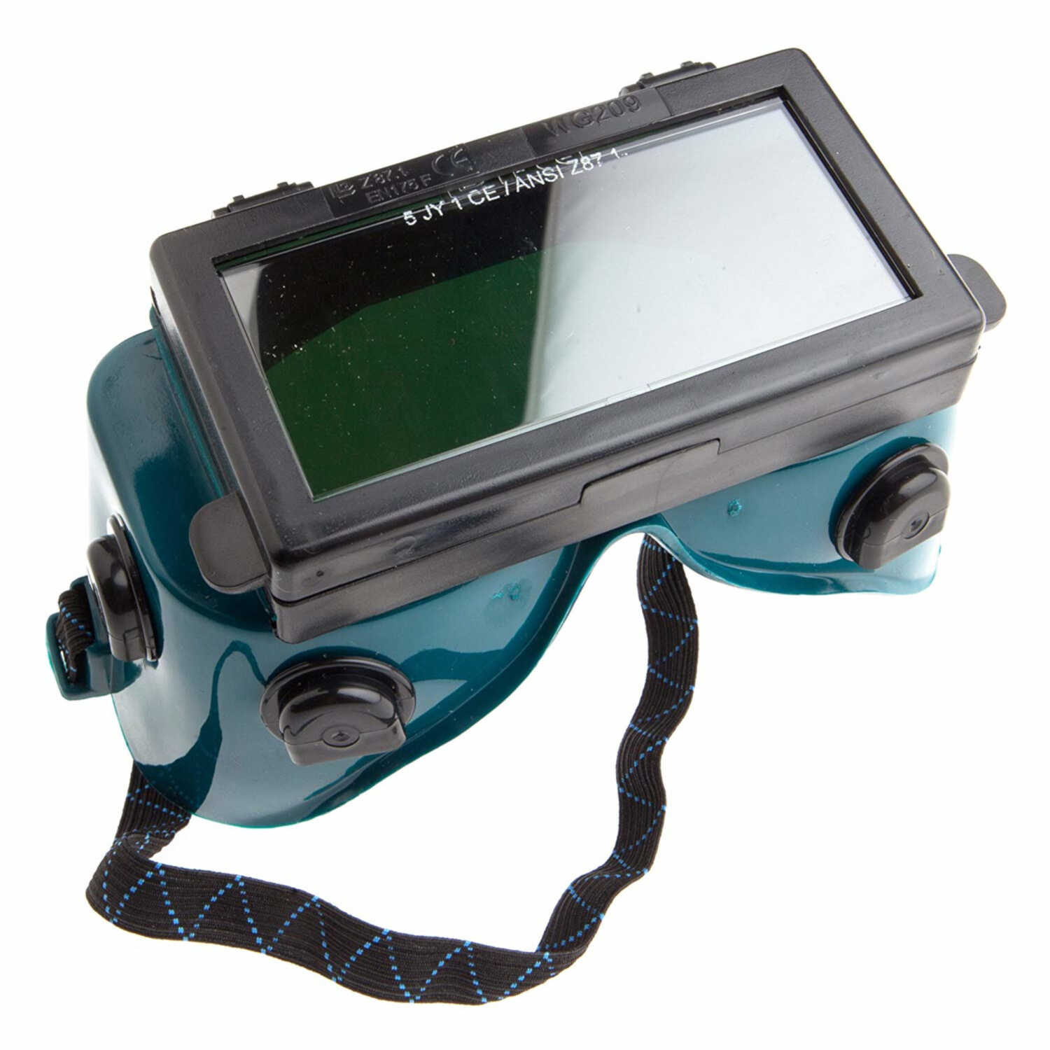 Forney  7 in. L x 3.5 in. W Welding Goggles  Green  1 pk