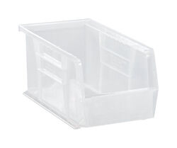 Quantum Storage  10-7/8 in. L x 5-1/2 in. W x 5 in. H Storage Bin  Plastic  1 compartment Clear