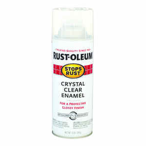 Rust-Oleum  Stops Rust  Indoor and Outdoor  Interior/Exterior  Crystal Clear  Protective Paint  12 o