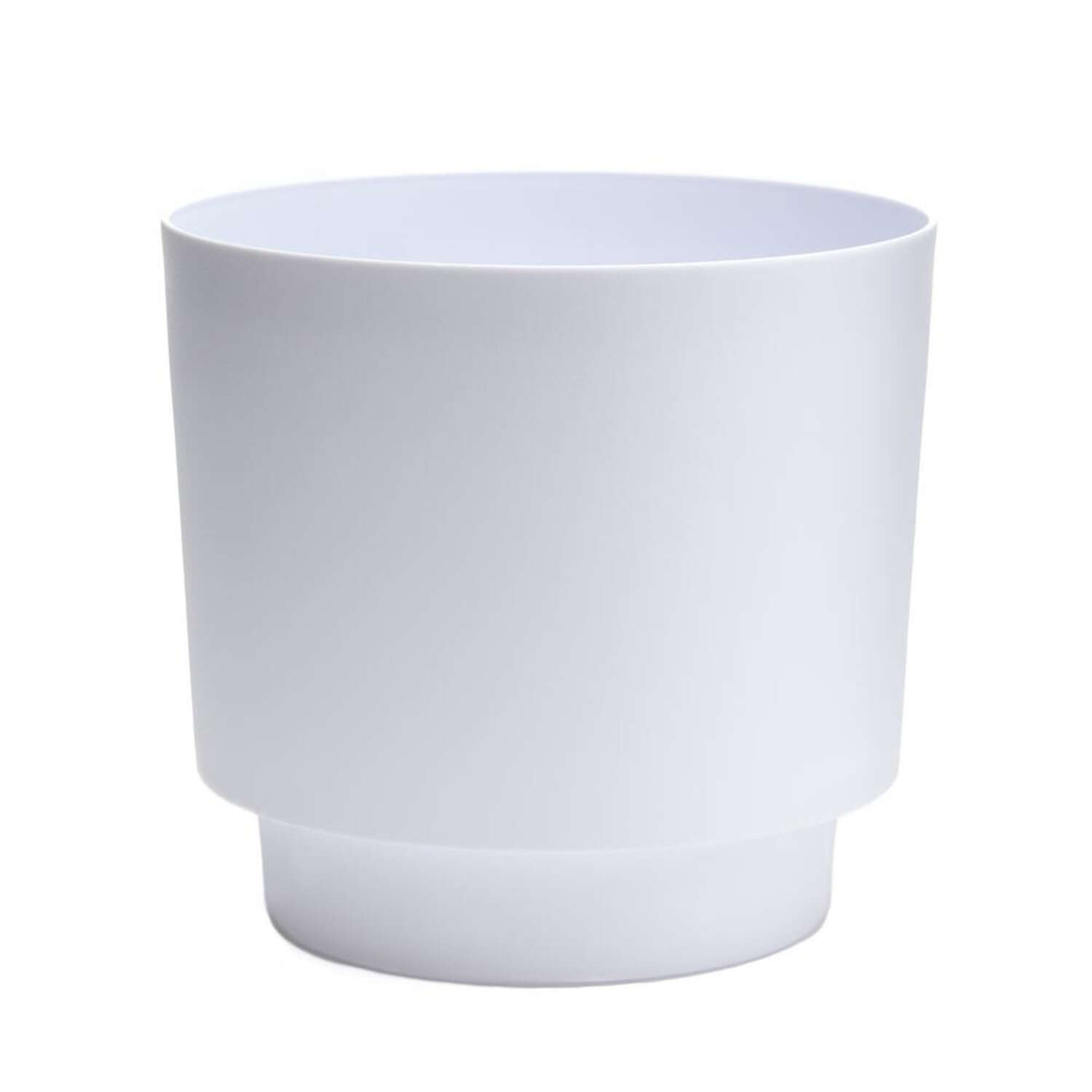Bloem  Hopson  8 in. H x 6 in. Dia. Resin  Planter with Stand  Casper White