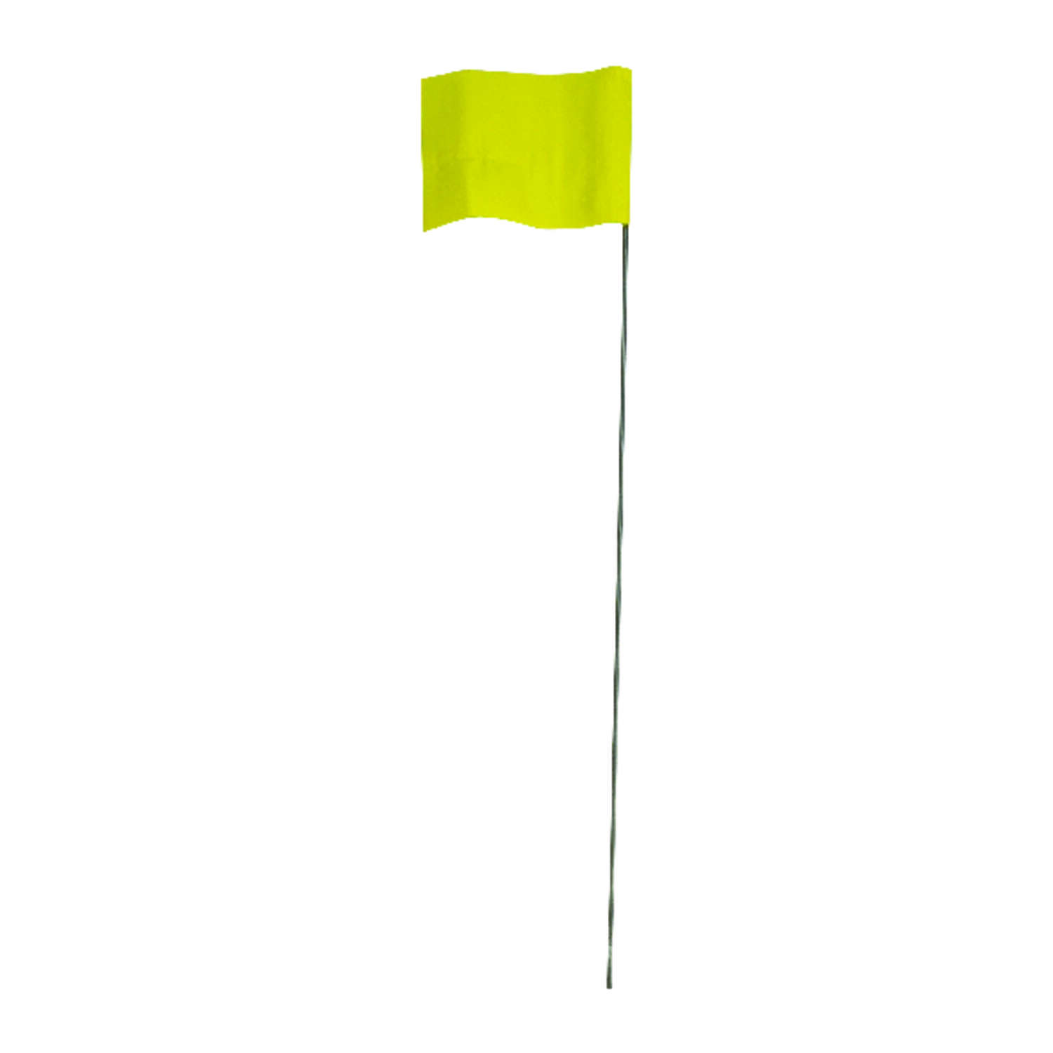 C.H. Hanson 21 in. Yellow Marking Flags Polyvinyl 100 pk