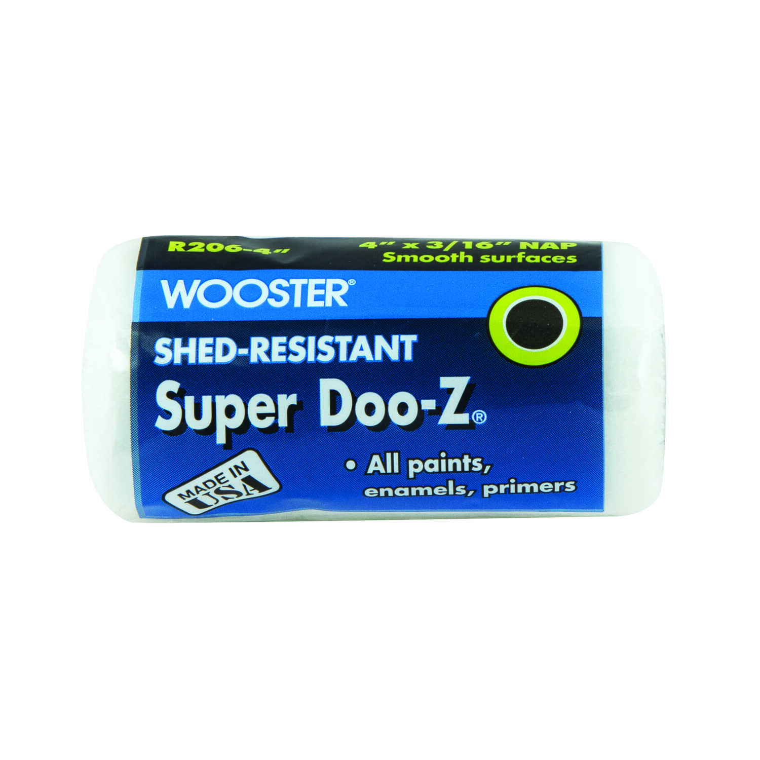 Wooster  Super Doo-Z  Fabric  3/16 in.  x 4 in. W Paint Roller Cover  For Smooth Surfaces 1 pk