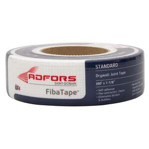 FibaTape  300 ft. L x 2 in. W White  Self Adhesive Drywall Joint Tape  Fiberglass Mesh