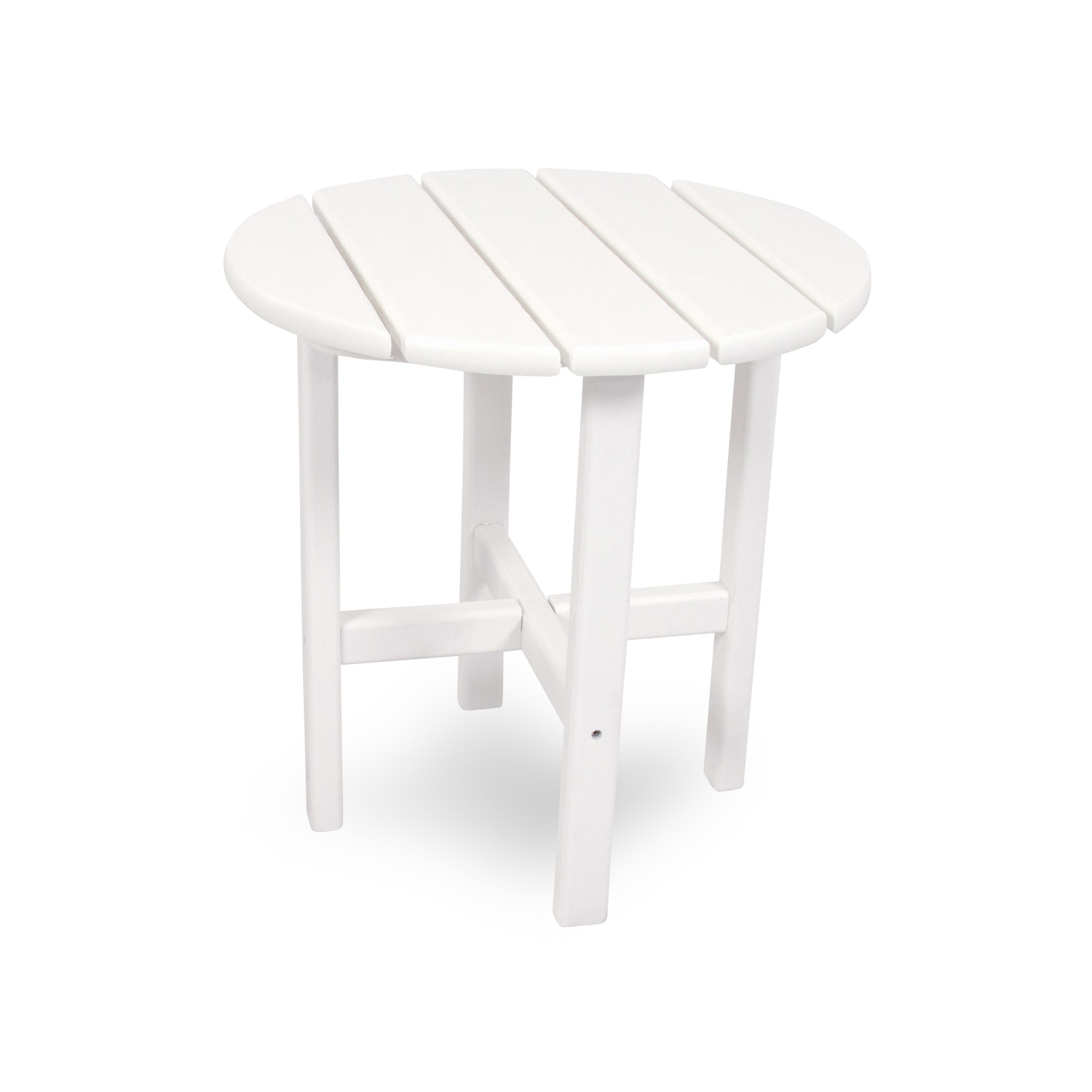 Ivy Terrace  White  Classic  Plastic  End Table  Round