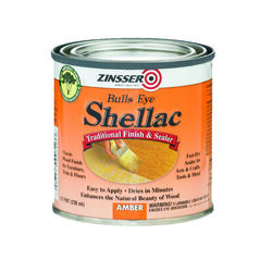 Zinsser  Bulls Eye  Amber  Shellac  Finish and Sealer  0.5 pt.