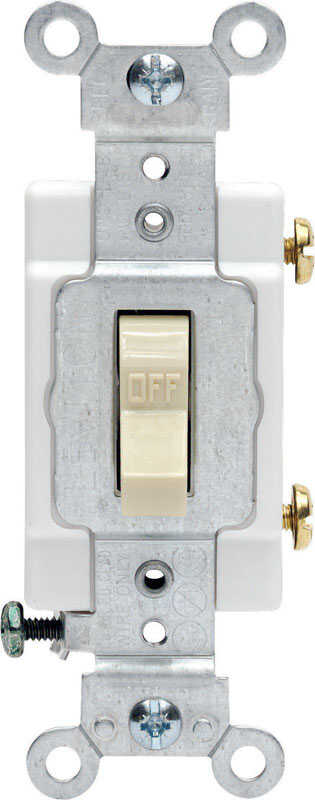 Leviton  Commercial  20 amps Toggle  Switch  Ivory  1 pk