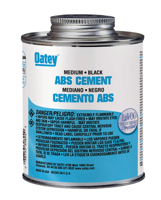 Oatey  Cement  For ABS 8 oz. Black