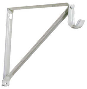 Knape & Vogt  John Sterling  White  Steel  Shelf/Rod  Bracket  9-3/8 in. H x 13 in. L 250 lb.