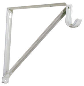 Knape & Vogt  John Sterling  White  White  Steel  16 Ga. Shelf/Rod  Bracket  9-3/8 in. H x 1 in. W x