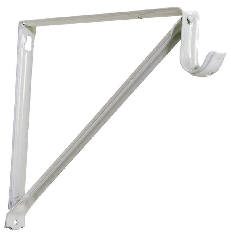 Knape & Vogt  John Sterling  White  Steel  Shelf/Rod  Bracket  16 Ga. 13 in. L 250 lb.