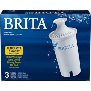 Brita  300 (16.9 oz.) Bottles per Filter  White  White  Replacement Pitcher Filter