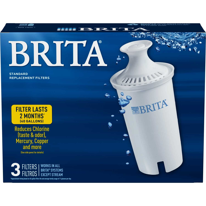 Brita 300 (16 9 oz ) Bottles per Filter White Replacement Pitcher