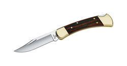 Buck Knives  110 Folding Hunter  Brown  420 HC Stainless Steel  8.63 in. Folding Knife