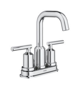 Moen  Gibson  Chrome  Two Handle  Lavatory Faucet  4 in.