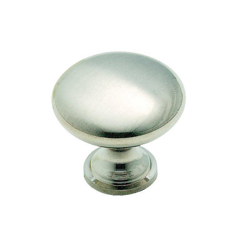 Amerock  Allison  Round  Cabinet Knob  1-3/16 in. Dia. 1-1/8 in. Brushed Chrome  1 pk