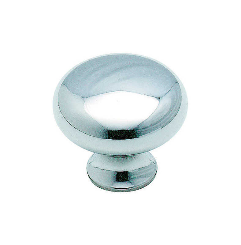 Amerock  The Anniversary Collection  Round  Cabinet Knob  1-3/16 in. Dia. 1 in. Polished Chrome  1 p