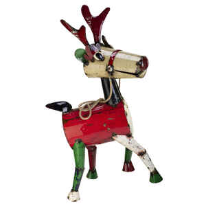 Think Outside  Rudy Reindeer  Christmas Decoration  Assorted  Metal  55.2  1 pk