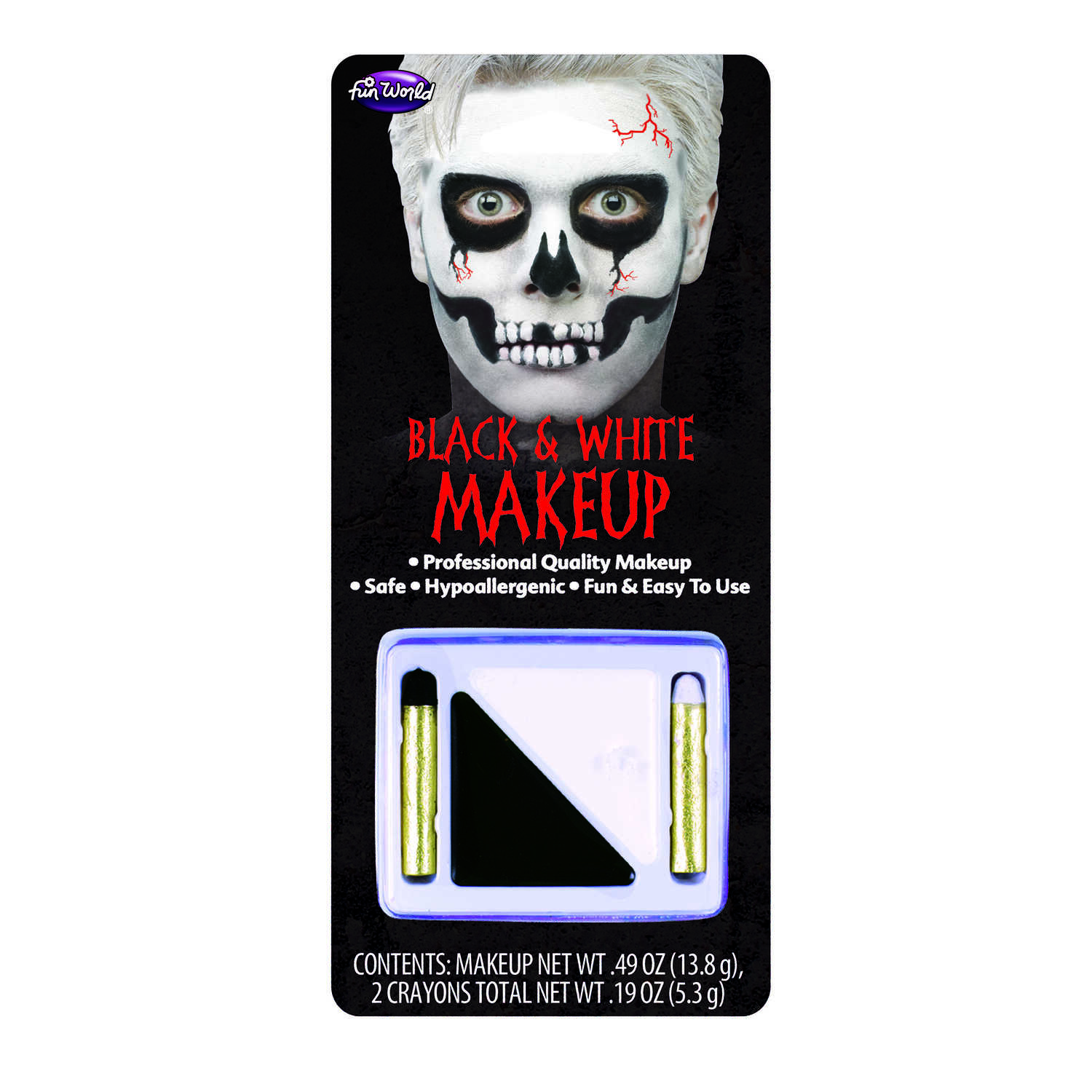 Fun World  Make-up Kit  Halloween Decoration  8.5 in. H x 3.88 in. W x 3.88 in. L 1 pk