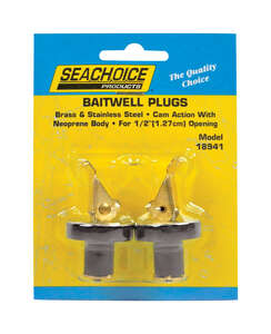 Seachoice  11.5 in. L x 1/2 in. W Deck and Baitwell Plugs  2 pc. Neoprene