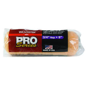 Wooster  Pro Series  Knit  3/4 in.  x 9 in. W Paint Roller Cover  For Rough Surfaces 1 pk