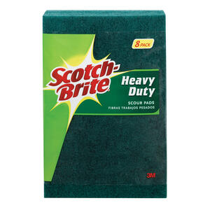 3M  Scotch-Brite  Heavy Duty  For Pots and Pans Sponge  6 in. L 8 pk
