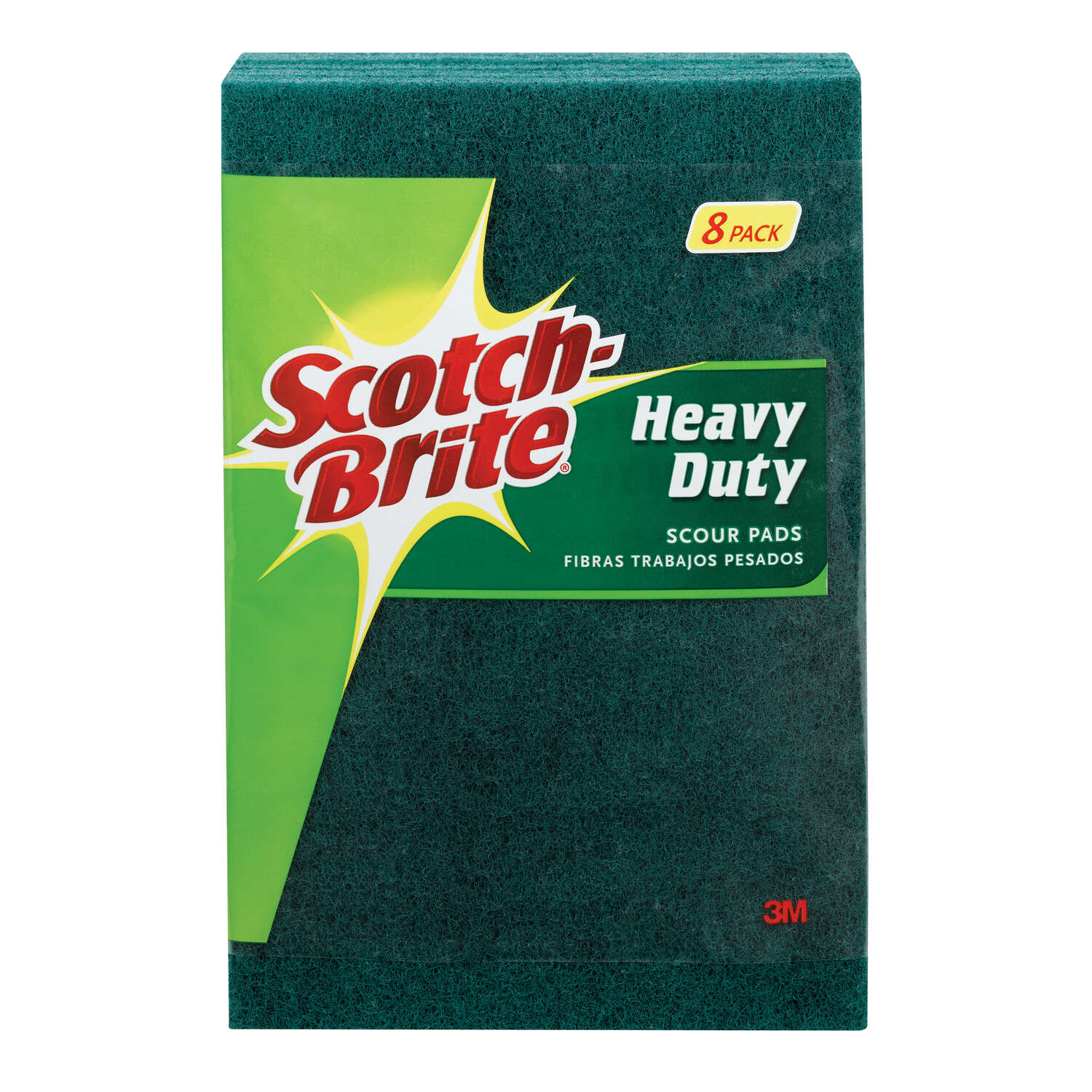 Scotch-Brite  Heavy Duty  Scouring Pad  For Pots and Pans 6 in. L 8 pk