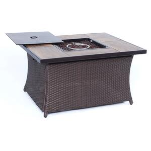 Hanover  San Marino  4 pc. Java  Steel  Firepit Set  Country Cork