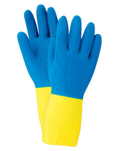 Soft Scrub  Latex  Cleaning Gloves  Medium  Blue  2 pc.