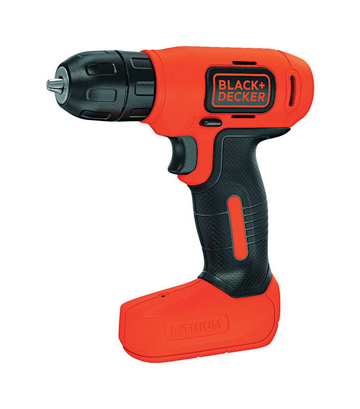 Black and Decker  8 volt 3/8 in. Cordless Compact Drill/Driver  Kit 400 rpm 1