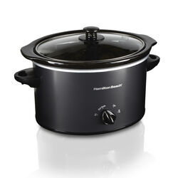 Hamilton Beach 3 qt. Black Stoneware Slow Cooker