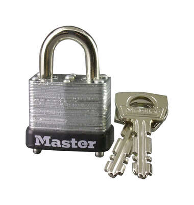 Master Lock  3/4 in. H x 9/16 in. W x 1 in. L Steel  Warded Locking  Padlock  1 pk