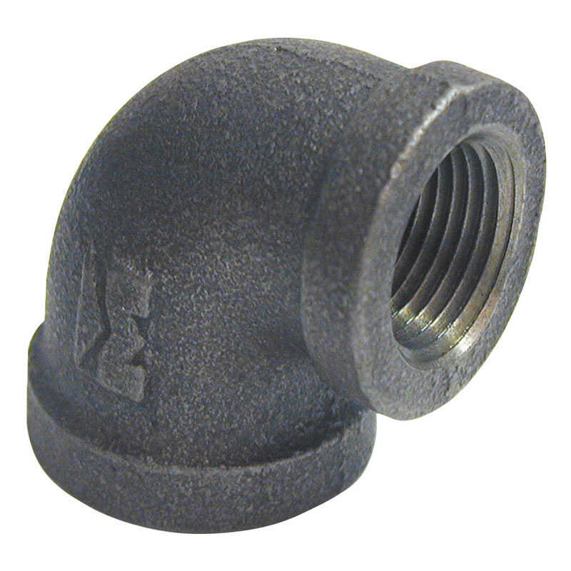 BK Products  3/4 in. FPT   x 1/2 in. Dia. FPT  Black  Malleable Iron  Reducing Elbow