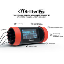 GrillEye  Pro Plus  Digital  WiFi Enabled Bluetooth Enabled Meat Thermometer