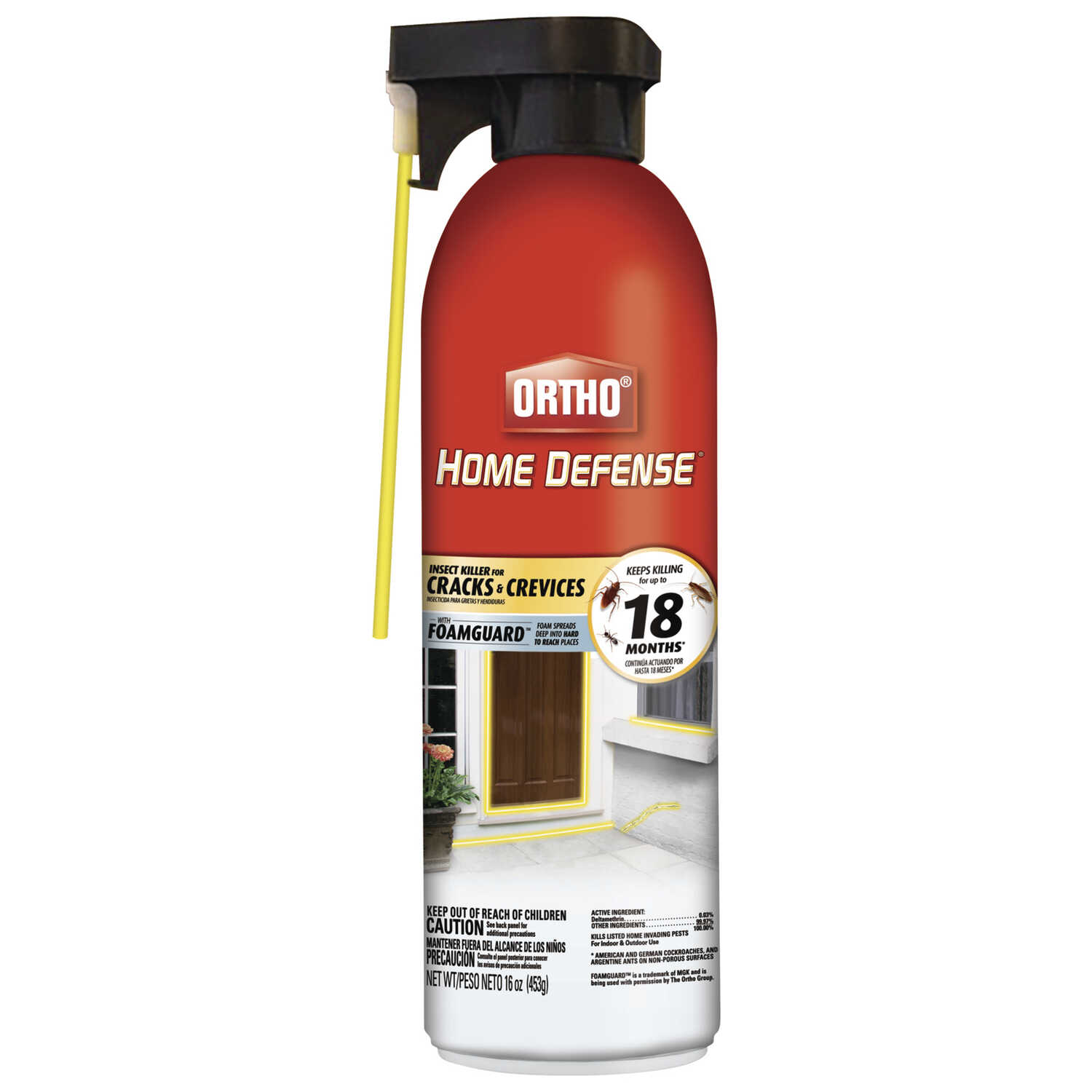 Ortho  Home Defense  Insect Killer For Cracks & Crevices  16 oz.