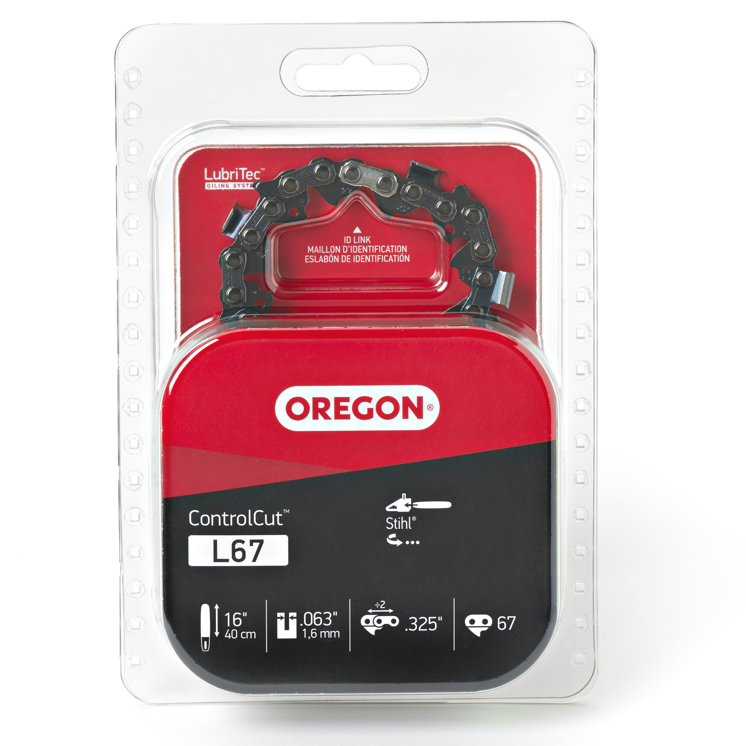 Oregon  16 in. L 67 links Chainsaw Chain