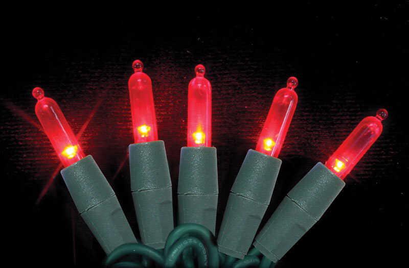 Celebrations Platinum Led Mini Light Set On A Reel Red 24