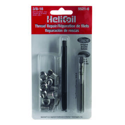 Heli-Coil  3/8 in. Stainless Steel  Thread Repair Kit  16