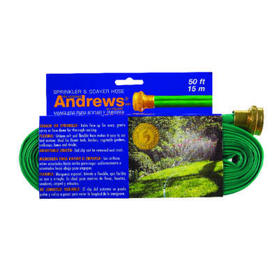 Andrews  1 in. Dia. x 50 ft. L Green  Vinyl  Gentle Soaker