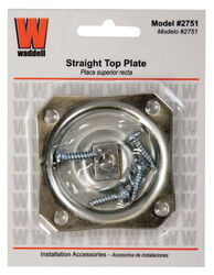 Waddell 2-1/2 in. H Straight Steel Table Leg Plate