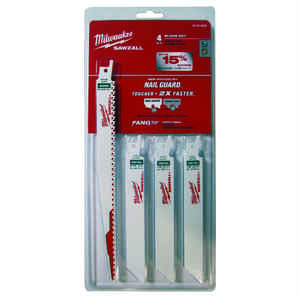 Milwaukee  SAWZALL  6 and 9 in. L x 0.5 in. W Bi-Metal  Nail Guard  Reciprocating Saw Blade Set  Mul