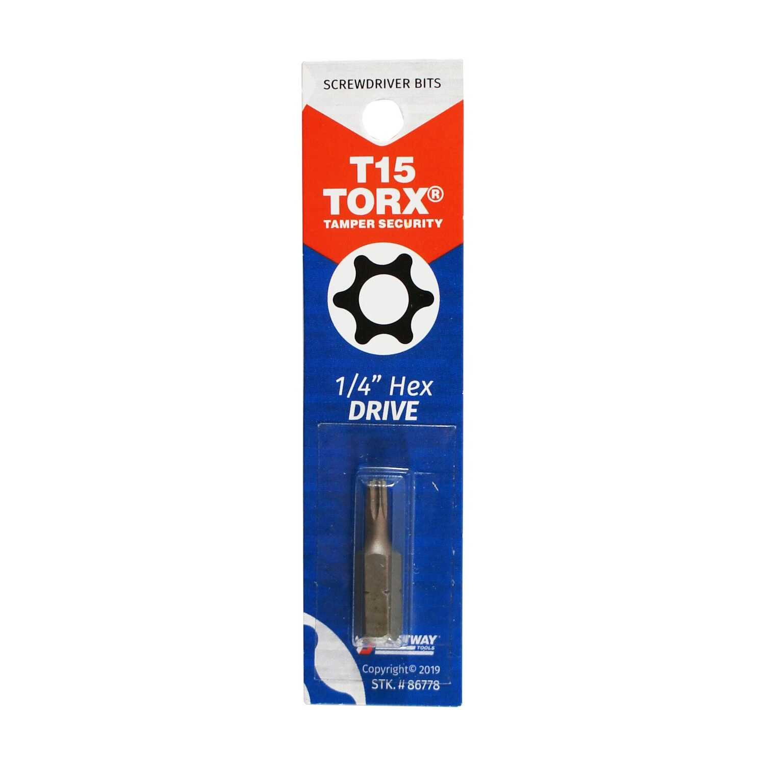 Best Way Tools  Torx  T15   x 1 in. L Screwdriver Bit  Carbon Steel  1/4 in. Hex Shank  1 pc.