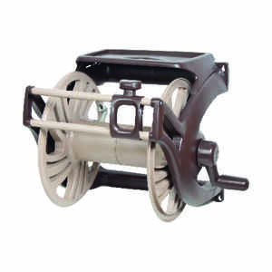 Ames  Neverleak  225 ft. Wall Mount Autowinder  Brown  Hose Cart with Hose Guide