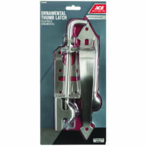Ace  3 in. W x 11 in. H Stainless Steel  Thumb  Ornamental Gate Latch