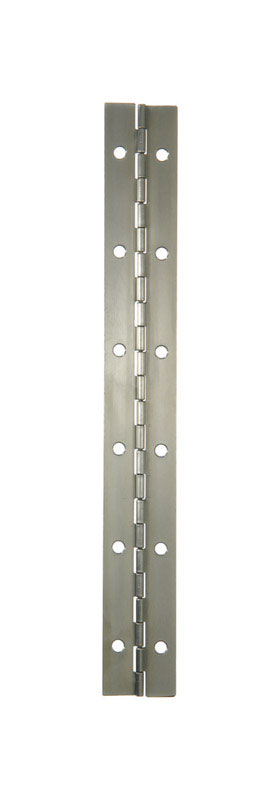 Ace  1-1/2 in. W x 12 in. L Stainless Steel  Steel  Continuous Hinge  1