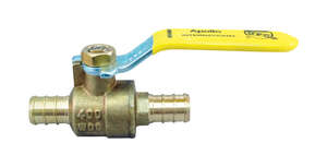 Apollo  PEX B  1/2 in.  x 1/2 in.  Straight  Shut-Off Valve  Brass