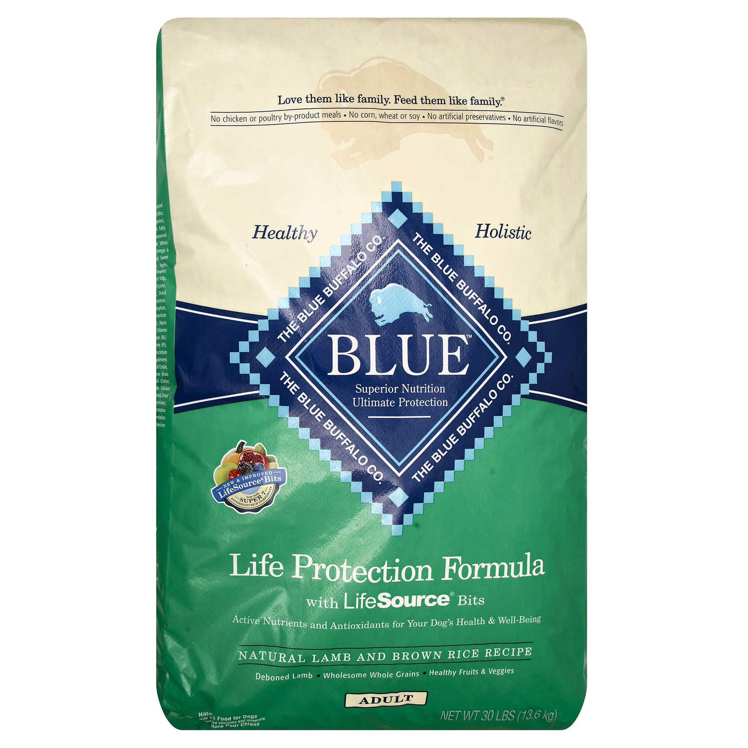 Blue Buffalo  Life Protection Formula  Lamb and Brown Rice  Dry  Dog  Food  30 lb.