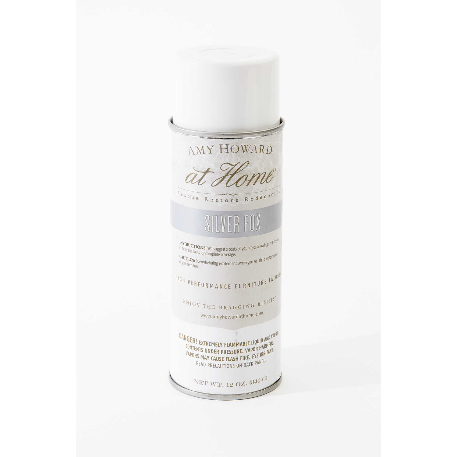 Amy Howard at Home  Gloss  Silver Fox  High Performance Furniture Lacquer Spray  12 oz.
