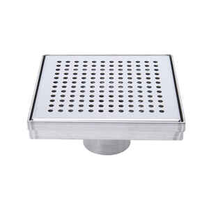 BK Products  2 in. Dia. Nickel  Square Shower Drain