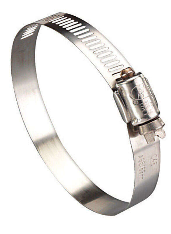 Ideal  Hy Gear  1/2 in. to 1-1/16 in. SAE 10  Silver  Hose Clamp  Stainless Steel  Band