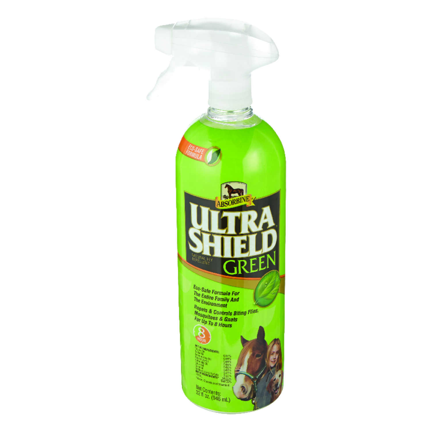 Ultra Shield  Green  Fly Spray  32 oz.